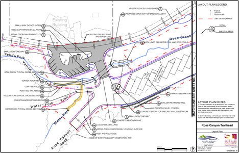Trailhead Layout Map